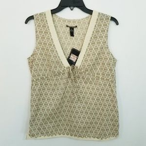 Lucky Brand Deep V-Neck Babydoll Top - M - NWT